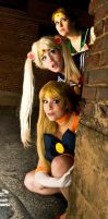 Sailor Scouts Spying by SammieKaye