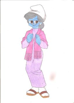Granny Smurf by animequeen20012003