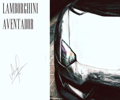 Lamborghini Aventador painting by father12345