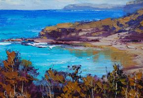 Beach Impression Painting by artsaus