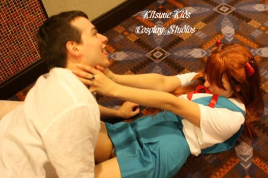 Shinji and Asuka Acen 2008 by Doom-In-A-SKORT