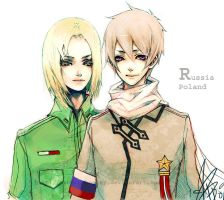 Hetalia - Poland and Russia by ProdigyBombay