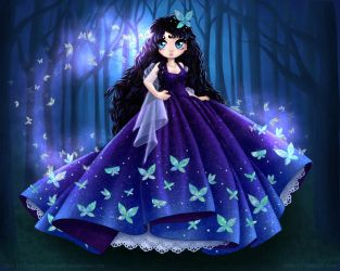 Butterfly Princess by ChildOfMoonlight