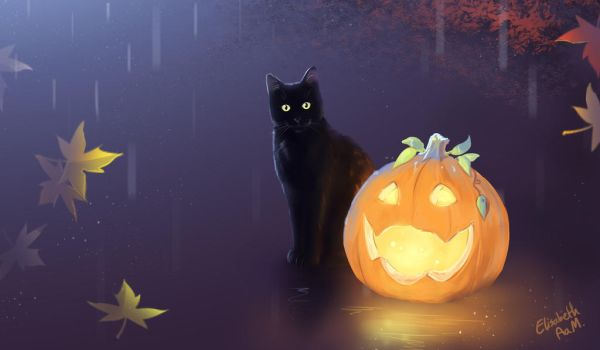 Halloween Cat by Emeraldus