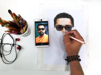 Actor- Asif Ali - Colored Pencil Drawing WIP by sinjith