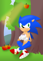 Sonic and the Apple Tree by wildgica
