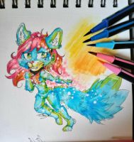 cheap art supply  challenge by AliceBlueCat