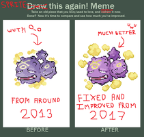 Before and after meme: Weezing