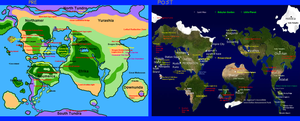 Mobius Map and Sonic's World Map by FrostTheHobidon