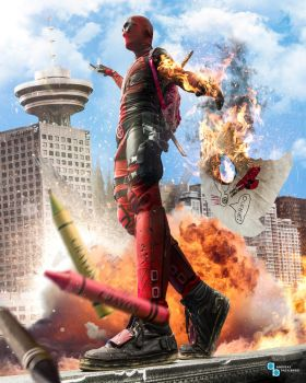 Deadpool - burning on the edge by TDSOD