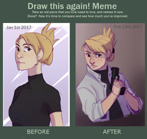 Before and After - Riza hawkeye by Sivsi