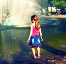 the girl and the rainbow by EmaGover