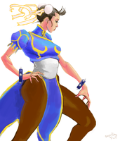 Chun-li Pose by freeCardboardBox