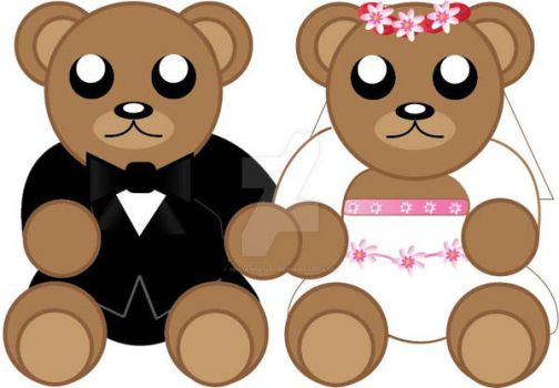 Teddy Bear Couple (2) by MHuang51491