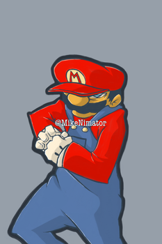 Badass Mario Colored by miknimator