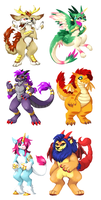 Mythical Adoptables $35 each or best offer! by Doggsy