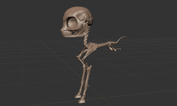 FO:E Skeleton Sculpt WIP by Poninnahka