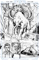 Night Wolf Comic Book Issue #1 Page #4 Sketch by RAM-Horn