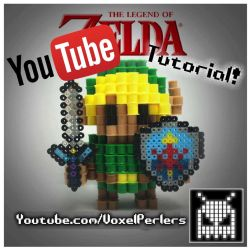 How to Voxel Link (the Legend of Zelda) by VoxelPerlers