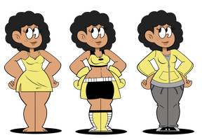 Jasmine Carter's Outfits (Colored) by Alexander-LR-2