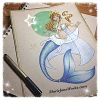 Character Commissions ~ Mermaid 2 by MarieJaneWorks