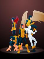 Orignal X-Men by WeaponXIX