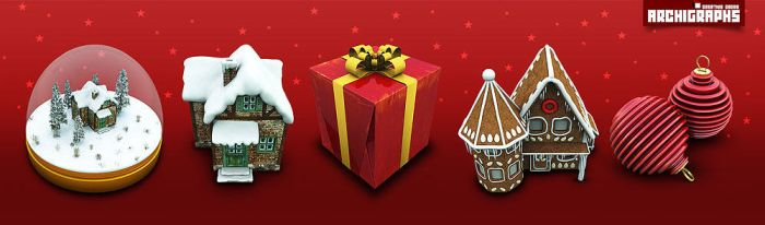 Archigraphs Christmas icons by Cyberella74