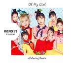 [Oh My Girl - Coloring Book] Png / Render Pack #3 by Junneemy