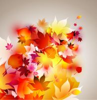 Free Colorful autumn leaves vector background by vectorbackgrounds