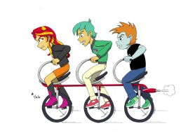 Sunset Trio Bike Ride by mayorlight