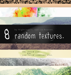 Random texture pack - Nightingale, taxitoheaven. by taxitoheaven
