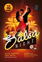 Salsa Night flyer and poster