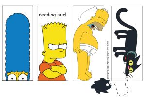 Simpsons Bookmarks by darks