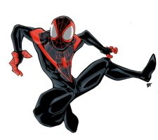Miles Morales Ultimate Spider-Man by Vauz