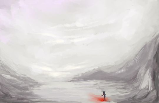 .Mountain Speedpainting. by Lii-chan