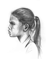 Girl with a pony tail by Giric