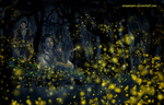 Fireflies in Nan Elmoth by annamare