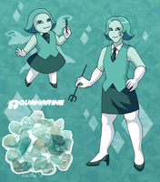 Mean Green Aquamarine by ErinPtah