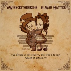 Winkcestober day 14: Mad hatter by KamiDiox