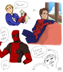 Superfamily Doodles by Ichiban-Ramen