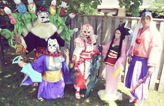 Okami Group by NiennaSurion