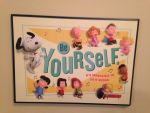 Peanuts BE YOURSELF wall picture sign by dth1971
