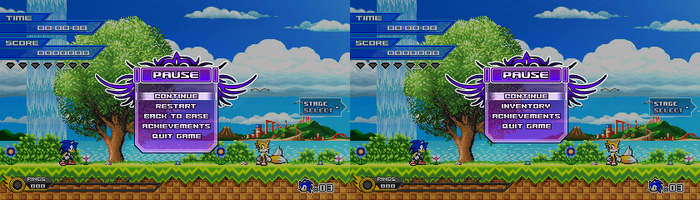 (Sonic vs Darkness) Pause Menu Design by Kainoso