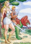 SHE-RA and HE-MAN by TIAGO-FERNANDES