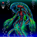 Jellyfish Alien (Luminous Transparent Jellynoid) by Unialien