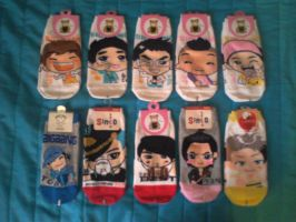 My k-pop sock collection so far by Hentaro