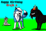 :BR: HAPPY BIRTHDAY DRAJK!! by BlueSkyWolf
