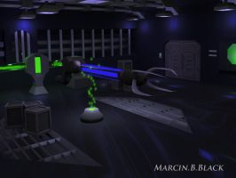 Shock lance in sci-fi interior - version 2 by MarcinBBlack