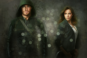 Oliver and Laurel - Arrow Wallpaper by Vampiric-Time-Lord