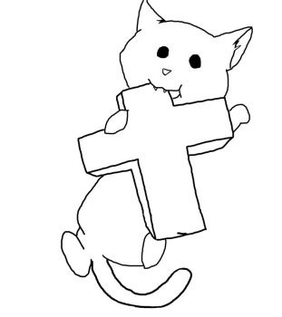 Neko Cross (Outline) by dan-knauff